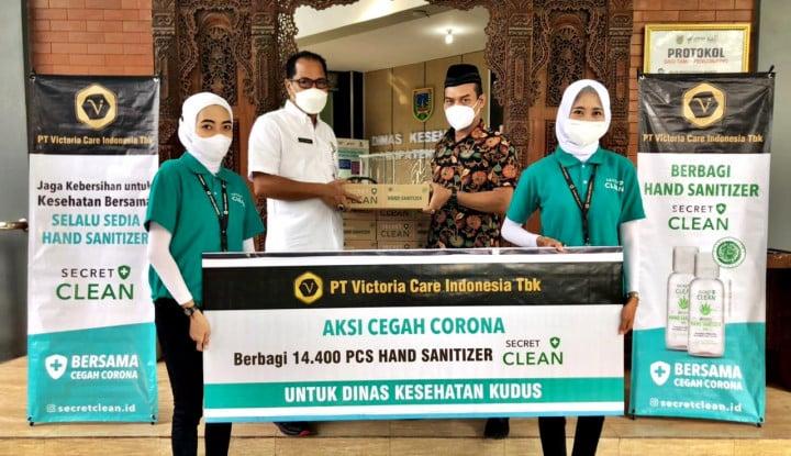 VICI Victoria Care Indonesia Bagikan Secret Clean Hand Sanitizer di Kudus dan Ponorogo