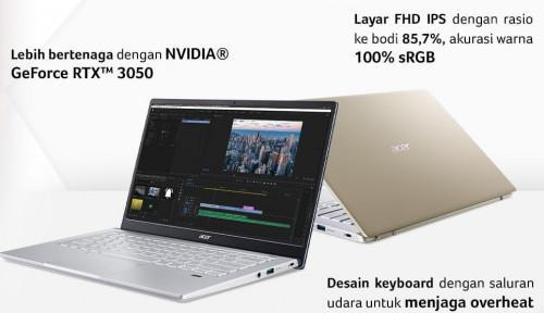 Acer Hadirkan Laptop Swift X, Kombinasi Desain Tipis Revolusioner dan Bertenaga