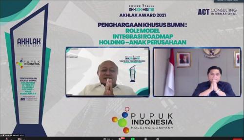 Piawai Memimpin Perusahaan, Bos Pupuk Indonesia Diganjar Best CEO Award 2021 Kategori Petrochemical