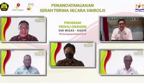 Kadin Indonesia-SKK Migas Berikan Bantuan Tujuh ISO Tank dan 1.500 Tabung Oksigen