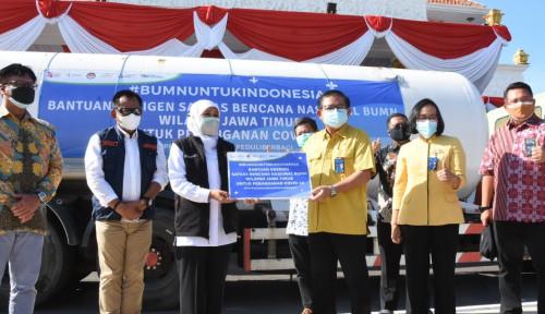 Satgas BUMN Beri Bantuan Oksigen 9,9 Ton di Jatim, Gubernur Khofifah Beri Apresiasi