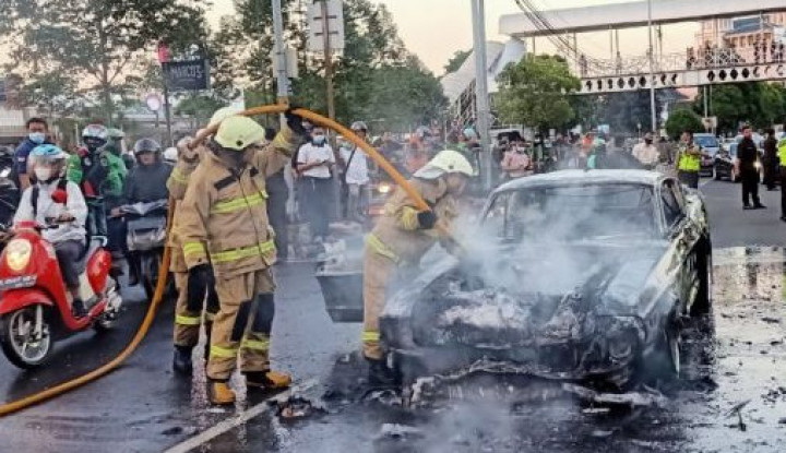 Mustang 'Dominic Torreto' Terbakar di Pondok Indah, Kerugian Rp2 Miliar