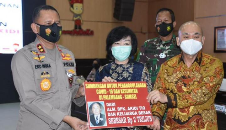 Foto Berita Sumbang Rp2 Triliun untuk Penanganan Covid-19 di Palembang, Siapa Pengusaha Akidi Tio?