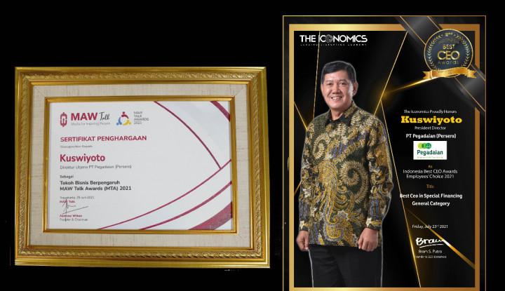 Dirut Pegadaian Sabet 2 Penghargaan CEO 2021