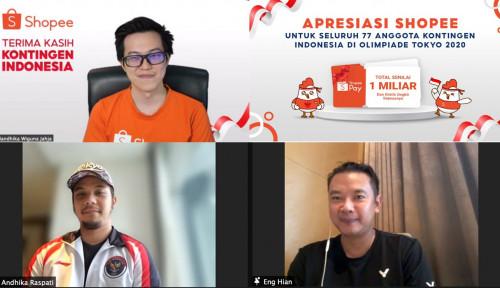 Apresiasi Kontingen Indonesia di Olimpiade Tokyo, Shopee Beri Rp1 Miliar dan Gratis Ongkir Sepuasnya