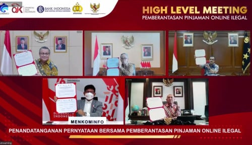 Berantas Pinjol Ilegal, Lima Kementerian/ Lembaga ini Buat Pernyataan Bersama