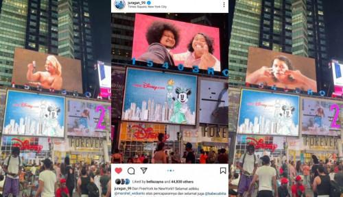 Banyak Dihujat Netizen, Wajah Babe dan Marshel Terpampang di Times Square New York