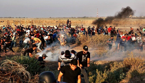 Pesawat Tempur Israel Sasar Sejumlah Titik di Jalur Gaza