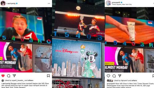 Jadi Brand Ambassador MS Glow, Wajah Greysia dan Apriyani Bertengger di Times Square