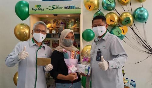Peringati Hari Pelanggan Nasional, Pimpinan Pegadaian Medan Turun Langsung Layani Nasabah