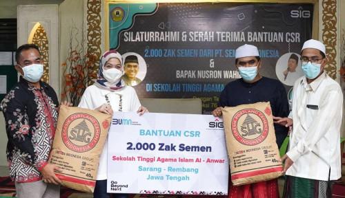 SIG Salurkan 2.000 Zak Semen untuk Pembangunan Gedung Pesantren di Rembang