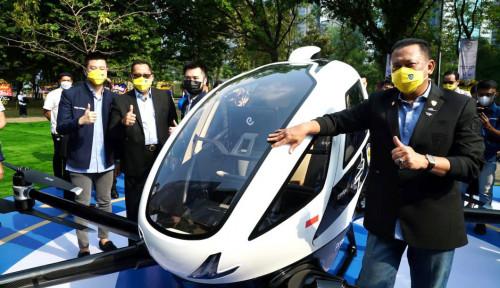 Resmikan Kantor Baru IMI, Bamsoet Kenalkan Taksi Terbang Listrik EHang