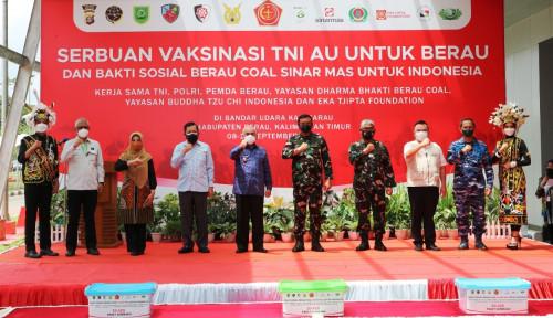 Bersama Berau Coal dan Sinar Mas, TNI AU Serbu Covid-19 di Kaltim