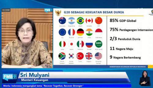 Indonesia Akan Pegang Presidensi G20 di Tahun 2022, Sri Mulyani: Ini Sangat Strategis