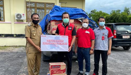Telkomsel Salurkan Bantuan Peduli Banjir Katingan dan Penanganan COVID-19 di Palangka Raya