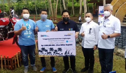 Geliatkan Pariwisata Banyuwangi, Bank Mandiri Salurkan CSR Pengelolaan Sampah