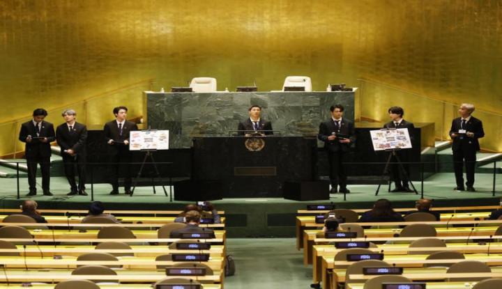 Keren, Setelan Jas Ramah Lingkungan Dikenakan BTS Ketika Hadir di PBB