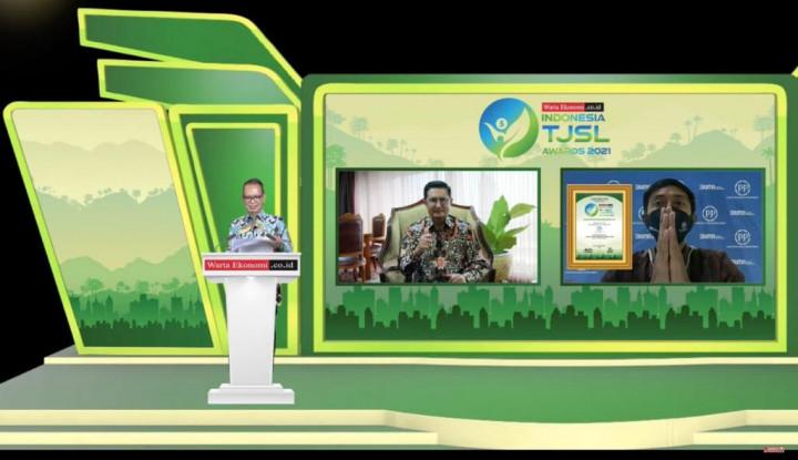 Mantap! PTPP Sabet Penghargaan di Ajang Indonesia TJSL Awards 2021 dari Warta Ekonomi