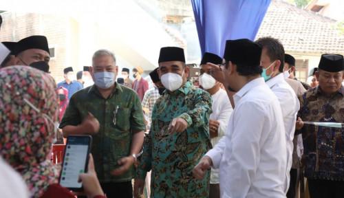 Langsung Dihadapan Sekjen Gerindra, Pimpinan Ponpes Buntet Doakan Prabowo