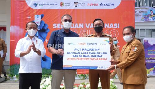 Pupuk Kaltim Salurkan Ribuan Paket Sembako dan  Alat Kesehatan Untuk Masyarakat Fakfak Papua Barat