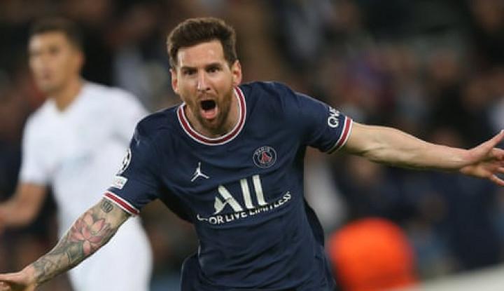 Gol Messi Bawa PSG Kalahkan Manchester City