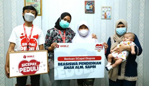 SiCepat Berikan Beasiswa Untuk Anak Alm. Sapri Pantun