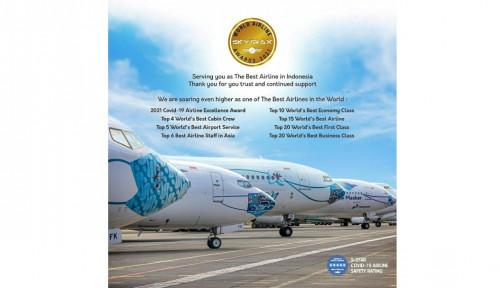 Garuda Indonesia Raih Pengakuan Global di Ajang Skytrax World Airline Awards 2021