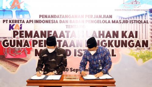 Teken Kerja Sama, KAI Bakal Sulap Lingkungan Masjid Istiqlal