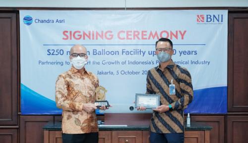 Chandra Asri Raih Fasilitas Balloon Payment US$250 Juta dari BNI