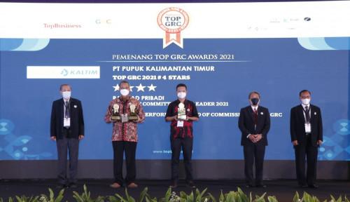 Pupuk Kaltim Borong Tiga Penghargaan TOP GRC Award Sekaligus