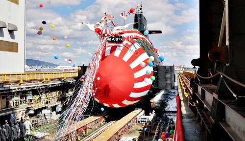 Super! Mendadak Jepang Luncurkan 'Hakugei' Kapal Selam Kelas Taigei Usai China...