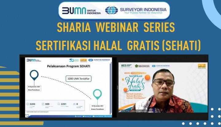Gaet MES, Surveyor Indonesia Dukung Sertifikasi Halal Gratis Bagi UMK