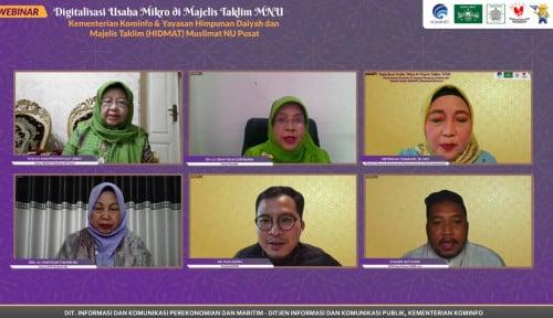 Foto Kominfo Dukung Digitalisasi UMKM di Majelis Taklim Muslimat NU