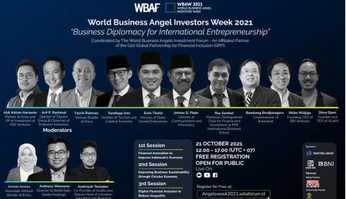 World Business Angel Investors Week 2021: Kolaborasi Dukung Start-Up Seri Pendanaan Awal