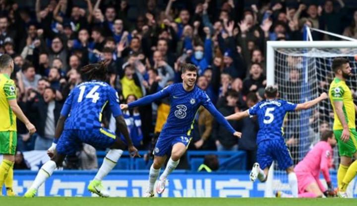 Mason Mount Pimpin Pesta Gol Chelsea atas Norwich City