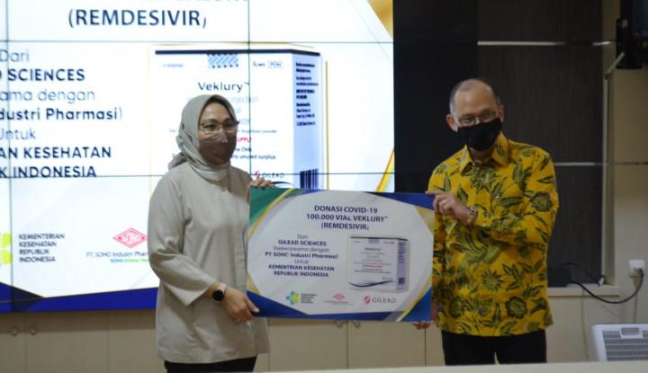 Soho Industri Pharmasi Serahkan Donasi Veklury Guna Penanganan Covid-19 di Indonesia