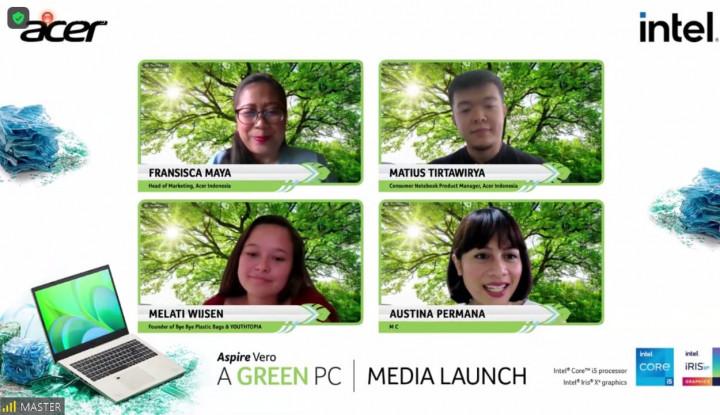 Acer Luncurkan Green PC Laptop Aspire Vero dari Plastik Daur Ulang