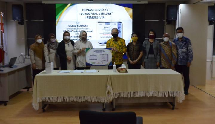 PT Soho Industri Pharmasi Serahkan Donasi Veklury® Untuk Penanganan Covid-19